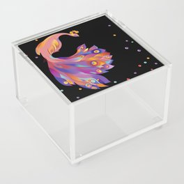 Pink Peacock Acrylic Box