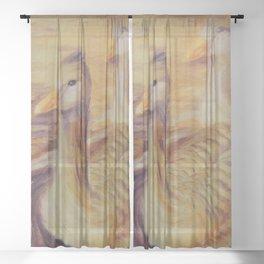 Duo of tenderness   Duo de tendresse Sheer Curtain