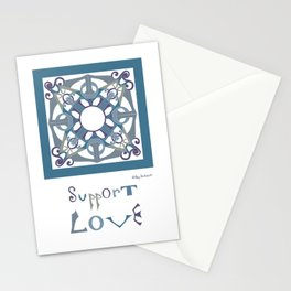 Support Love Mandala  - Cool Stationery Cards