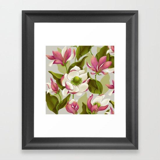 magnolia bloom - daytime version Framed Art Print