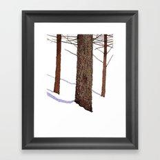 Winter Trees Framed Art Print