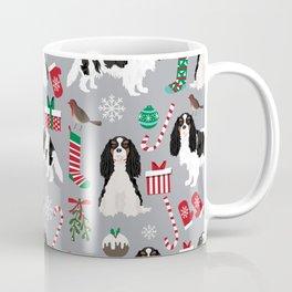 Cavalier King Charles Spaniel black and white christmas dog gifts pet friendly Coffee Mug