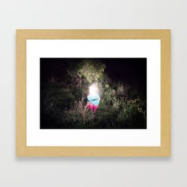 Snow, stars and other fake things Framed Art Print
