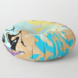 Spilled Paint Floor Pillow