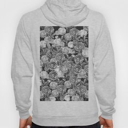 Vintage Roses Black And White Hoody