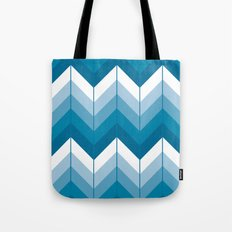 Herringbone - Blue Tote Bag
