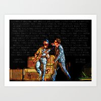 u2 Art Prints featuring U2 / Bono / Edge / Until The End Of The World by JR van Kampen