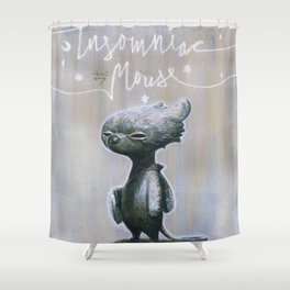 Insomniac Mouse Shower Curtain