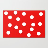 polka dot Canvas Prints featuring Polka dot by Bubblemaker