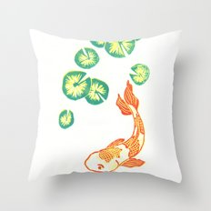 Swimming Fish Throw Pillow