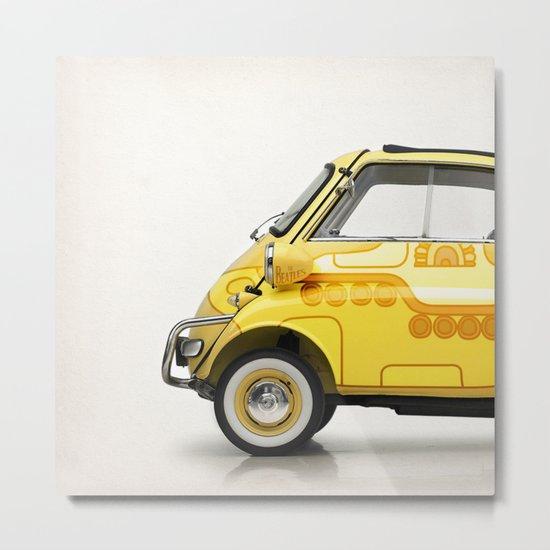 Yellow Submaretta Metal Print