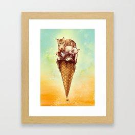 Cats Cream Framed Art Print