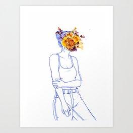 Wallflower (III) Art Print