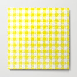 Yellow Vichy Metal Print