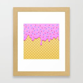 Strawberry Ice Cream Framed Art Print