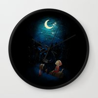 camping Wall Clocks featuring Camping 2 by Freeminds