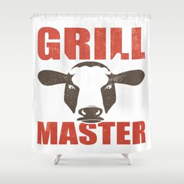 Funny Grill Party Grilling Master BBQ Summer Gift Shower Curtain