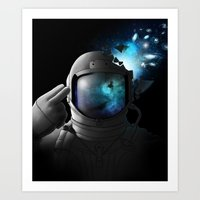 big bang Art Prints featuring Big Bang by angrymonk