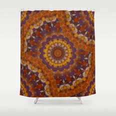 Color Me Autumn Kaleidoscope Mandala  Shower Curtain