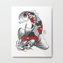M&m Designs - Koi Fish Metal Print