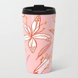 Lilies Warm Metal Travel Mug