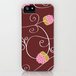 Raspberry Patch Red iPhone Case