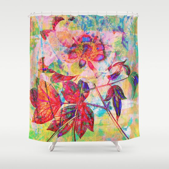 abstract anemone Shower Curtain