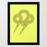 lightning Art Prints featuring Lightning by Heiko Hoos
