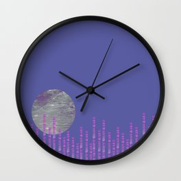 Moon Over the City 1 Wall Clock