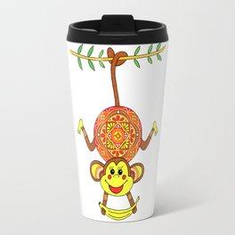 MONKEY MANDALA CHILDREN Travel Mug