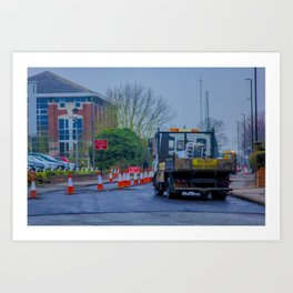 Roadworks, where do they end? - Coventry, England Art Print
