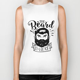 The Beard Is Here Biker Tank