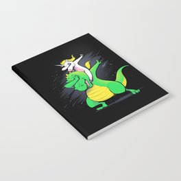 Unicorn T-Rex Dabbing Notebook