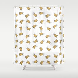 flick one's fingers Shower Curtain