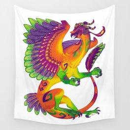 Oaxacan Barn Owl Dragon Wall Tapestry