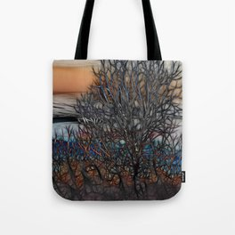 Abstract Sunset Tree Tote Bag