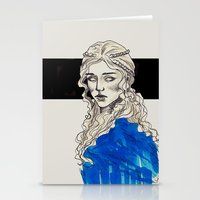 mother of dragons Stationery Cards featuring Mother Of Dragons by Fatma Sahem