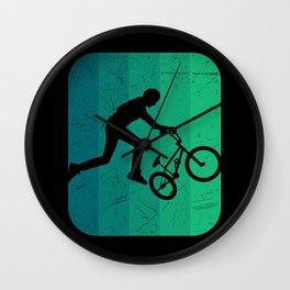 BMX RETRO Funny Freesyle Biker Gift Cyclist Wall Clock