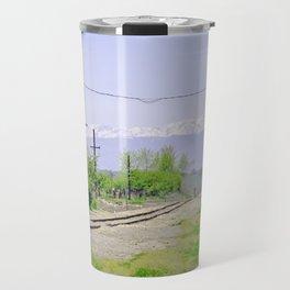 Railroad path Travel Mug