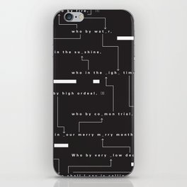 Who By Fire iPhone Skin
