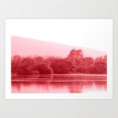 Raspberry Riverbank Art Print