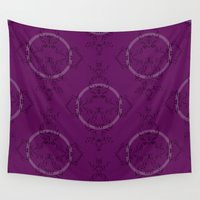 font Wall Tapestries featuring Font Pattern by ekeegan