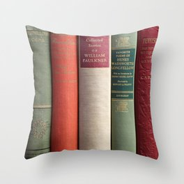 Old Books - Square Throw Pillow