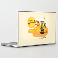borderlands Laptop & iPad Skins featuring Visit Pandora! by Andy Hunt
