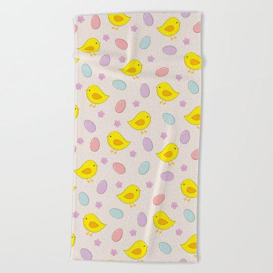 Easter pattern Beach Towel