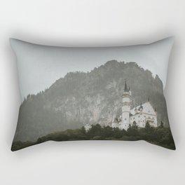 Castle on the hill; Schloss Neuschwanstein | Colourful Travel Photography | Schwangau, Germany (Europe) Art Print Rectangular Pillow