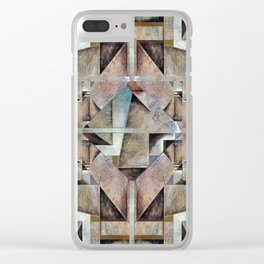 Granny Smith Geometric Clear iPhone Case