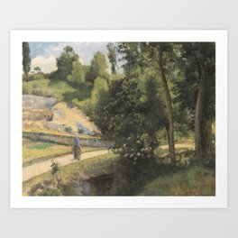 Camille Pissarro - The Quarry, Pontoise Art Print