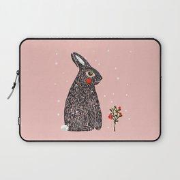 Christmas rabbit - illustration Laptop Sleeve