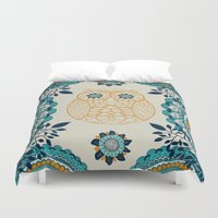 boho Duvet Covers featuring BOHO Owl by rskinner1122